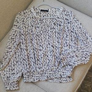 Sanctuary XS sheer blouse